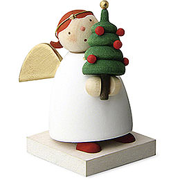 Guardian angel with little Christmas tree  -  3,5cm / 1.3inch