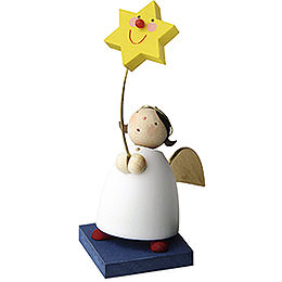 Guardian angel with star on stick  -  3,5cm / 1.3inch
