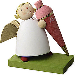Guardian angel with sweet cornet  -  girl  -  3,5cm / 1.3inch