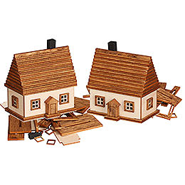 Handicraft set Ore mountain cabin, 2 piece  -  6cm / 2.4inch