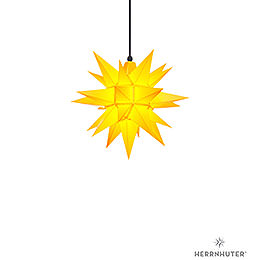 Herrnhuter Moravian star A4 yellow plastic  -  40cm/16inch