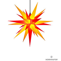 Herrnhuter Moravian star A7 yellow/red plastic  -  68cm/27inch