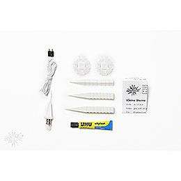 Herrnhuter Moravian star DIY kit A1b white plastic  -  13cm/5.1inch