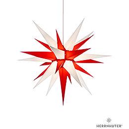 Herrnhuter Moravian star I7 white/red paper  -  70cm