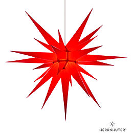 Herrnhuter Moravian star I8 red paper  -  80cm/31inch