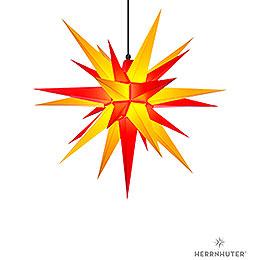 Herrnhuter Stern A7 gelb/rot Kunststoff  -  68cm