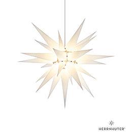 Herrnhuter Stern I7 weiß Papier  -  70cm