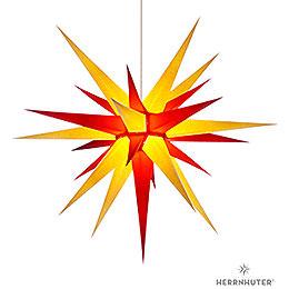 Herrnhuter Stern I8 gelb/rot Papier  -  80cm