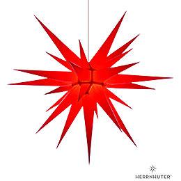 Herrnhuter Stern I8 rot Papier  -  80cm
