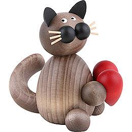 Katze Karli mit Herz  -  8cm