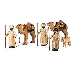 Krippenfiguren  -  Kamelkarawane  -  13cm