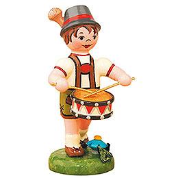 Lampion Child Boy with Drum   -  8cm / 3 inch