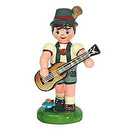 Lampion Child Boy with Guitar   -  8cm / 3 inch