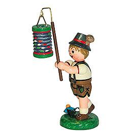 Lampion Child Boy with Lantern   -  8cm / 3 inch