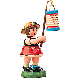 Lampion Girl with Lantern -  8cm / 3 inch