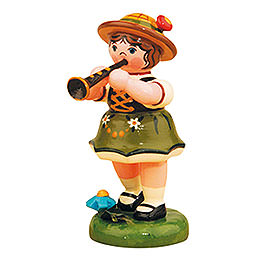 Lampion girl with Clarinet  -  8cm / 3inch