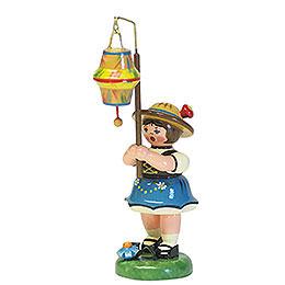 Lampionkind M�dchen mit kegelf�rmigem Lampion  -  8cm