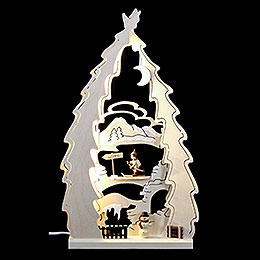 Lichterspitze LED Baum Langlauf  -  43x25x4,5cm