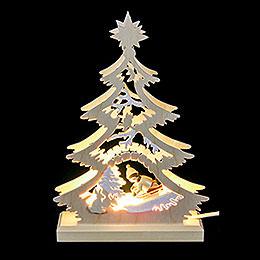 Lichterspitze  -  Mini - Baum Rodler  -  LED  -  23,5 x 15,5 x 4,5cm