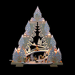 Lichterspitze  -  Rodeln auf dem Ziegenberg  -  44x50x11cm