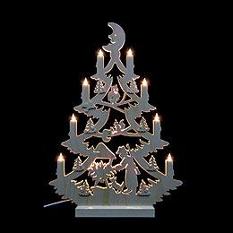 Lichterspitze Tannenbaum beidseitig  -  47x34x5,5cm