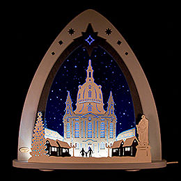 "Light triangle ""Church of our Lady""  -  52x53,5x9cm / 20x21x3.5inch"