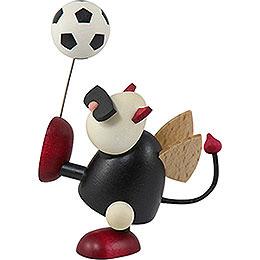 Little devil Gustav with football  -  7cm / 2.8inch