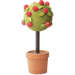 Little rose tree, red  -  7,5cm / 3inch