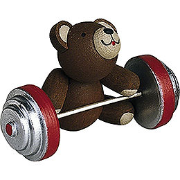 Lucky bear working out  -  2,7cm / 1.1inch