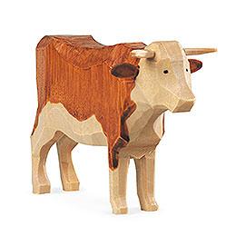 Manger - figurine  -  Ox handcarved  -  11cm / 4 inch