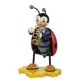 Marienkäfer mit Trompete  -  16cm