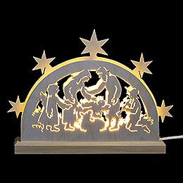 Mini LED Lightarch  -  Nativity Motif  -  23x15x4,5cm / 9x6x2 inch