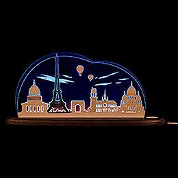 """Motivleuchte """"Ich liebe Paris""""  -  47x21,2cm"""