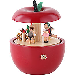 Music Box Apple child concert  -  6 inch  -  14cm