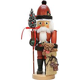 Nussknacker Weihnachtsmann mit Teddy  -  44,5cm