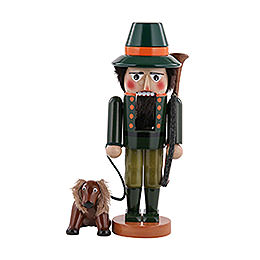 Nutcracker Hunter with dog  -  35cm / 14 inch