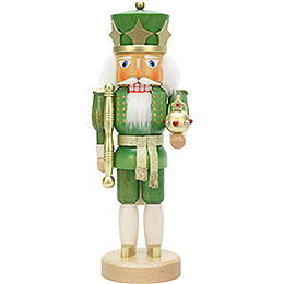 Nutcracker king green/gold  -  37,5cm / 14.7inch