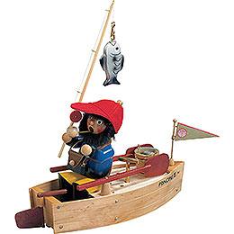 R�ucherm�nnchen Angelboot mit Musik  -  25cm