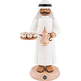 Räuchermännchen Araber mir rauchender Kaffeekanne und Tassen  -  27cm