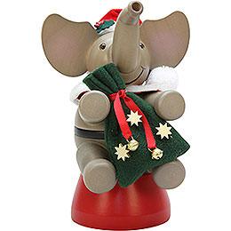 Räuchermännchen Elefant Weihnachtsmann  -  20,0cm