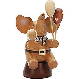 Räuchermännchen Elefant mit Spielzeug natur  -  20,0cm