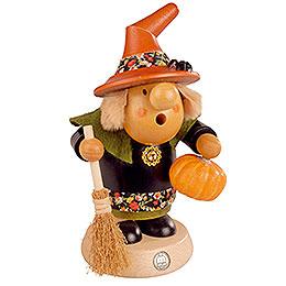 Räuchermännchen Halloween Hexe mit Kürbis  -  11cm