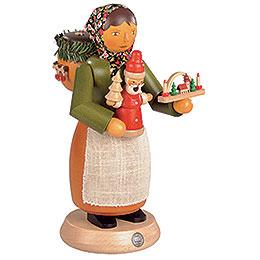 Räuchermännchen Holzspielzeugverkäuferin  -  25cm