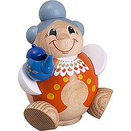 R�ucherm�nnchen Kugelr�ucherfigur Oma lustig  -  11cm