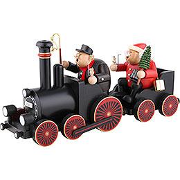 Räuchermännchen Lokführer mit Eisenbahn  -  22cm