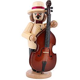 Räuchermännchen Musikant mit Bass  -  23cm