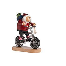 R�ucherm�nnchen Radfahrer Weihnachtsmann  -  23cm