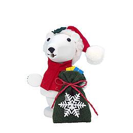 R�ucherm�nnchen Weihnachtsmann Eisb�r  -  11,0cm