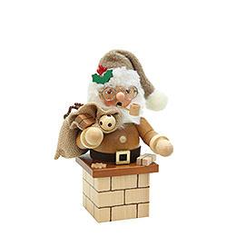 R�ucherm�nnchen Weihnachtsmann auf Kamin natur  -  18,5cm