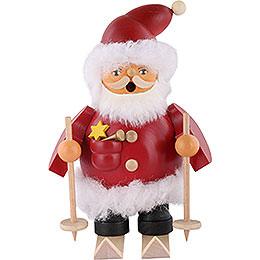 Räuchermännchen Weihnachtsmann auf Skiern  -  14cm